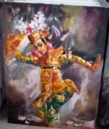 harga Lukisan penari legong 60x80 palet khas bali (tari legong timbul) Tokopedia.com