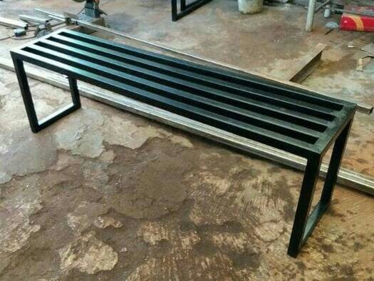harga Kursi tunggu panjang 120cm cafe resto rumah makan murah besi kayu Tokopedia.com