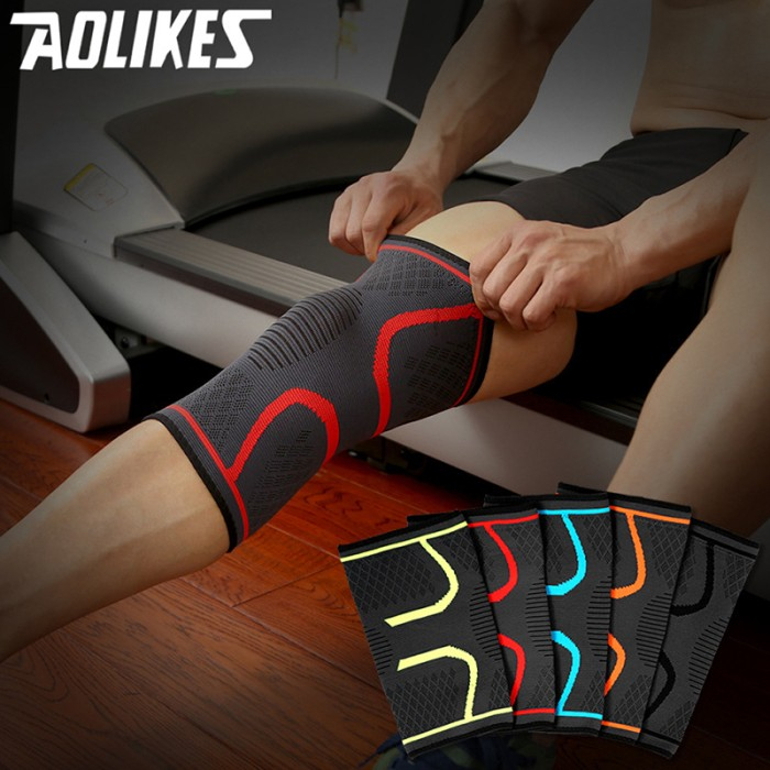 harga Knee support braces deker lutut aolikes 1pair fitness running cycling Tokopedia.com