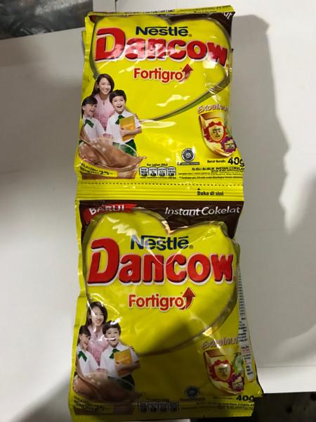 Foto Produk Dancow Fortigro Coklat Bubuk 1 Renceng 10 Pcs Sachet 39g 39gr Instant dari Ben Motoshop