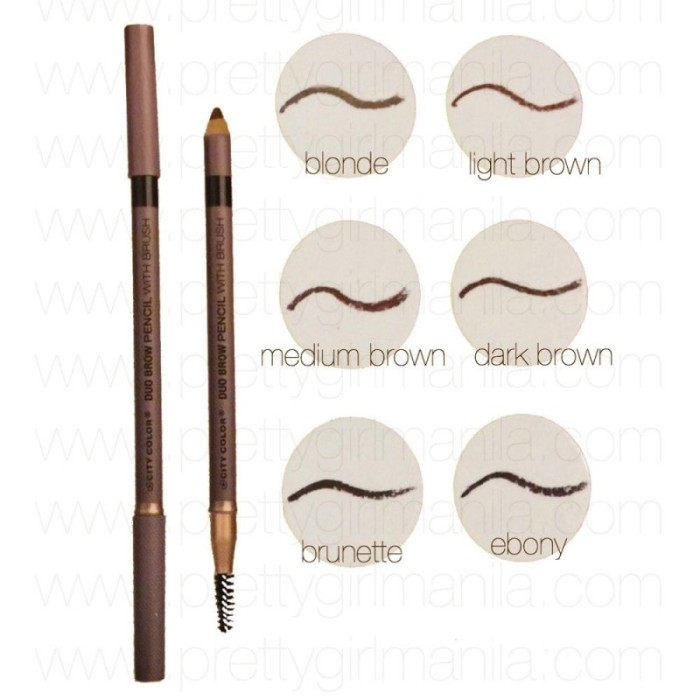 City Color Duo Brow Pencil with Brush (Blonde)