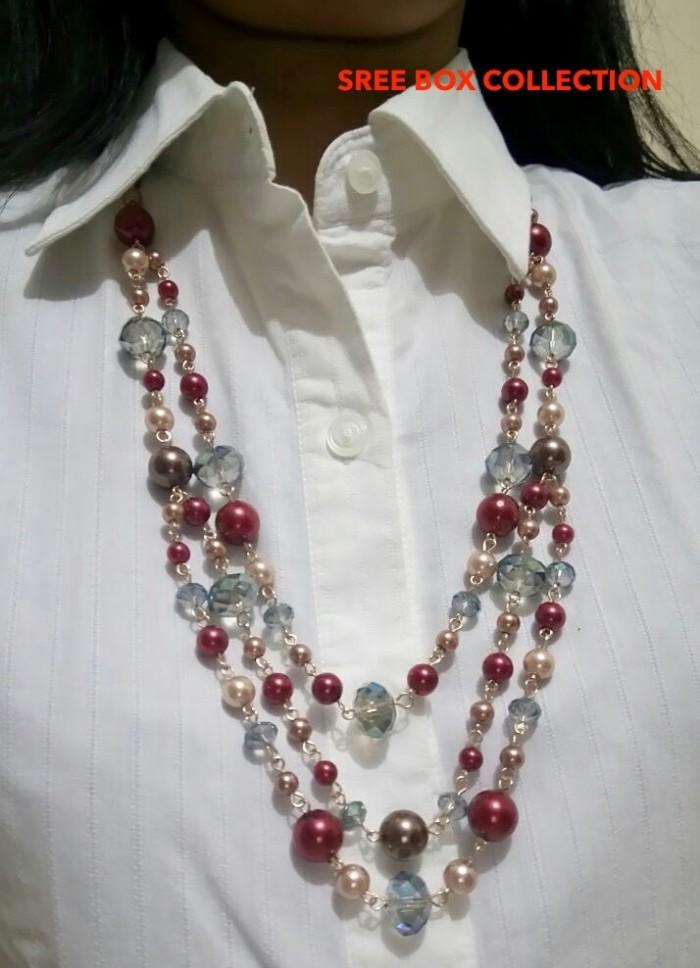 Kalung Panjang Fashion Kristal (21910)