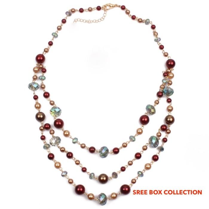 OFASHION Aksesoris Kalung CA-180314-K008 Necklace Fashion Xuping Jewelry Hitam Putih. Source · Kalung Panjang Fashion Kristal (21910)
