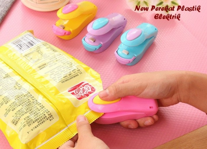 Foto Produk plastik sealer mini generasi gen2 seal snack makanan kecil Hand segel dari paffie shop