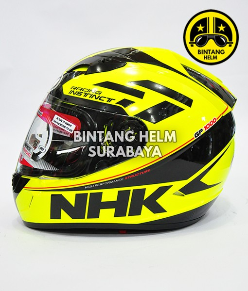 harga Helm full face nhk gp1000 instinct yellow fluo black Tokopedia.com