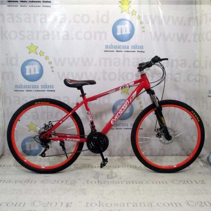 harga 26in evergreen 225 ranger mtb 21 speed cakram mekanis sepeda gunung Tokopedia.com