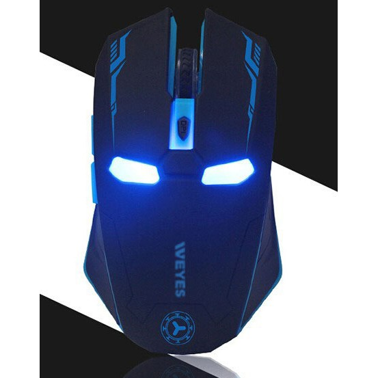 Foto Produk WEYES Iron Man Wireless Mouse Gaming Mute Button Silent Click 2.4Ghz dari Gadget-Pro