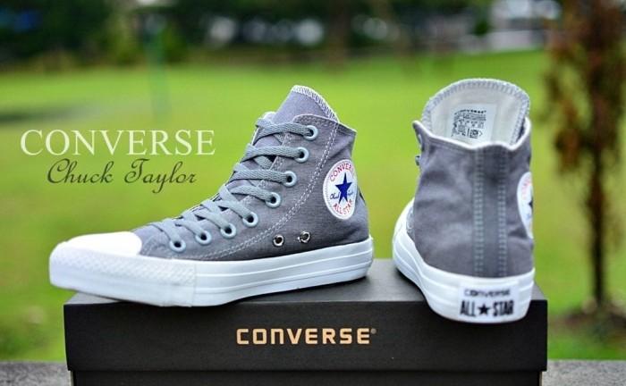 Jual Sepatu All Star Converse Chuck Taylor   CT Abu Tinggi Murah ... 74abab4e00