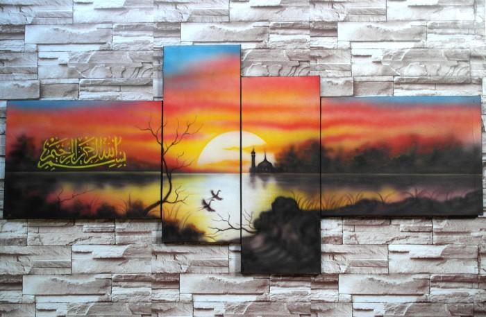 harga Lukisan pemandangan sunset psa4 Tokopedia.com