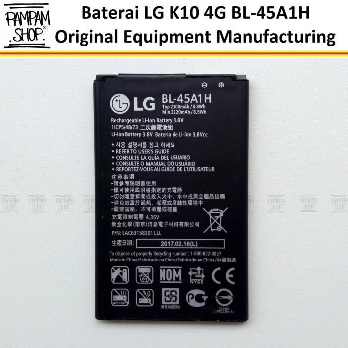 harga Baterai handphone lg k10  bl-45a1h bl45a1h bl 45a1h original oem batre Tokopedia.com