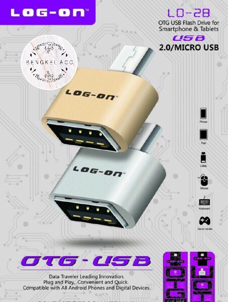 harga Micro usb otg female log on flashdisk handphone adapter mikro android Tokopedia.com