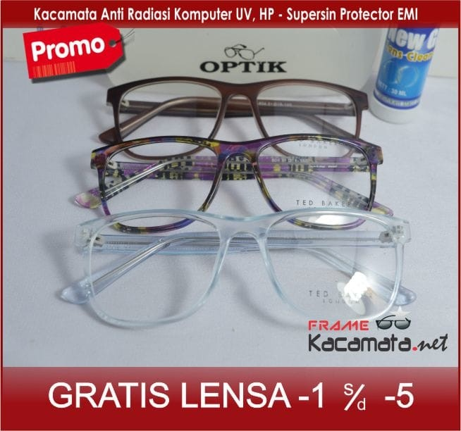 Jual Kacamata Frame +Lensa Minus Antiradiasi Pria Wanita Baca Bulat ... 931adedba5