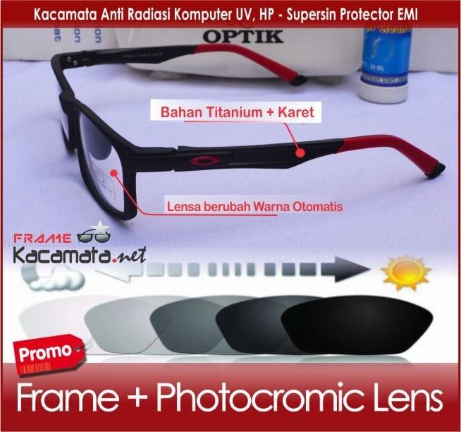 Frame kacamata minus +lensa photocromic minus cewek pria kotak korea 7922f172c1
