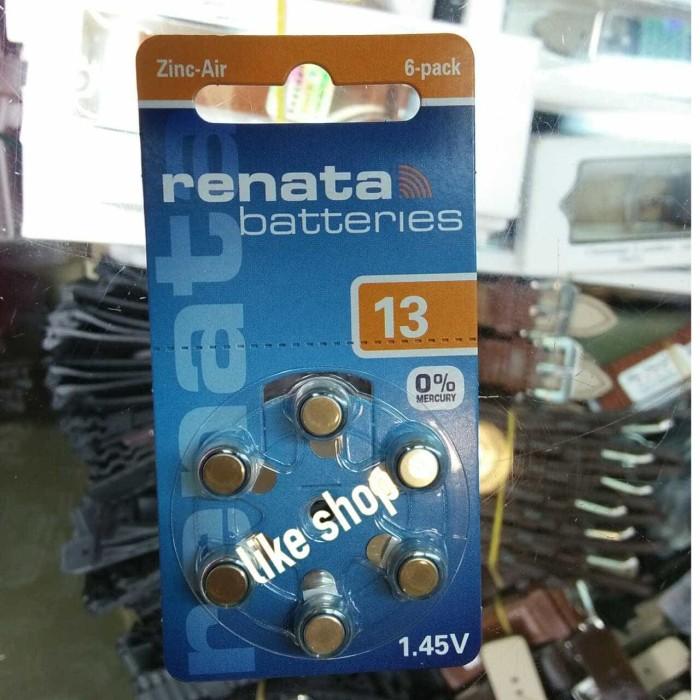 harga Original baterai batre renata 13 pr48 pr 48 alat bantu dengar telinga .
