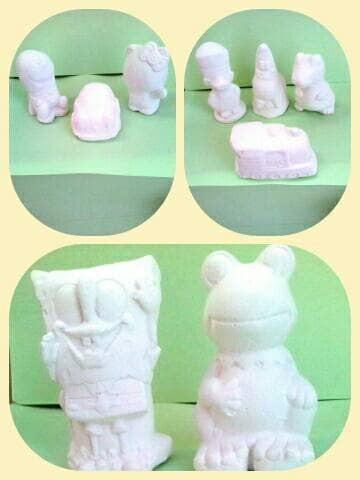 Jual Media Mewarnai Media 3 Dimensi Boneka Bahan Gypsum Gipsum