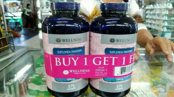 harga Buy 1 Get 1 Wellness Omega 3 Fish Oil 1000mg 1000 Mg Isi @375 Softgels Tokopedia.com