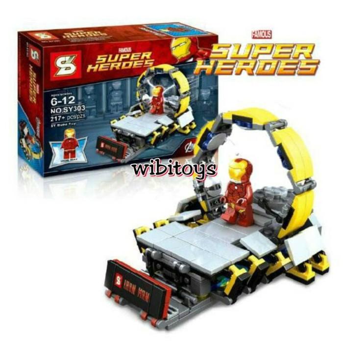 harga Lego sy 303 iron man lab sy303 super hero ironman Tokopedia.com