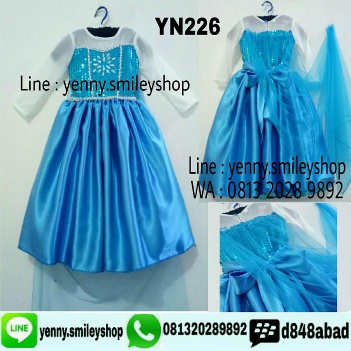 harga #yn226 a frozen elsa dress 2-6 th Tokopedia.com