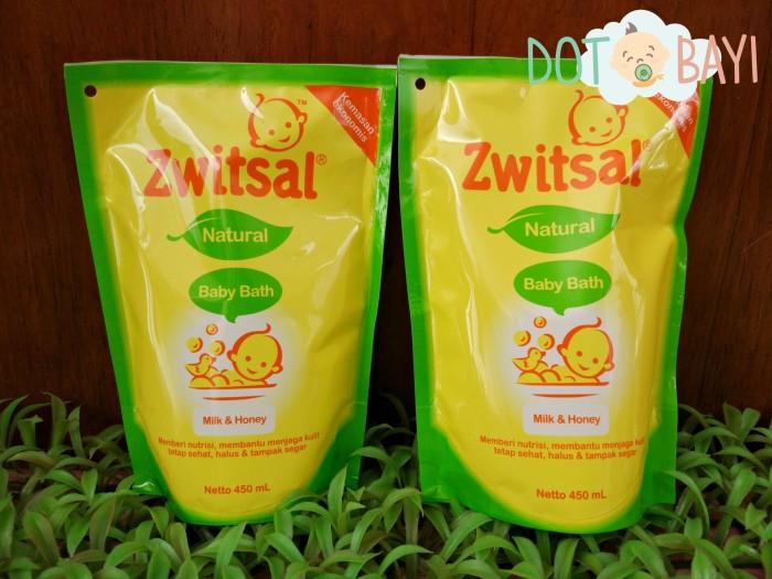 harga Zwitsal natural baby bath sabun bayi milk & honey refill 450 ml Tokopedia.com