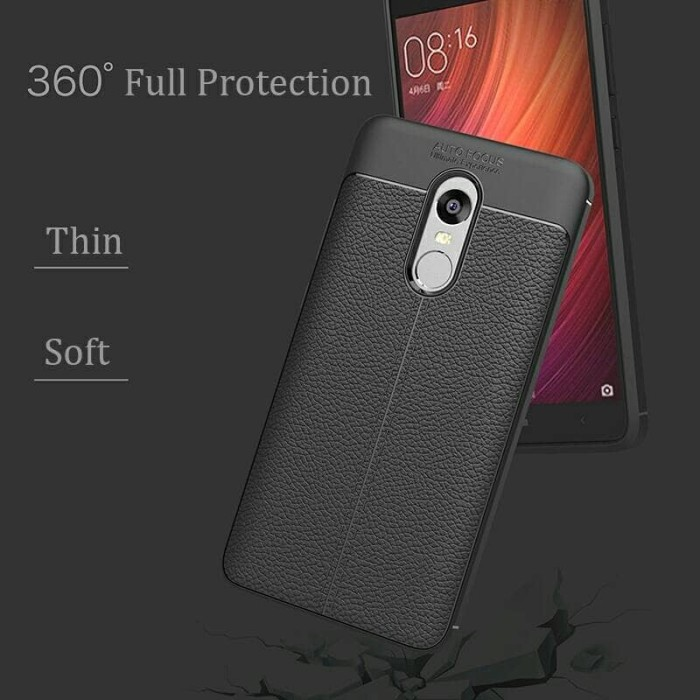 Cover Case Xiaomi Redmi Note 4X Silicon Armor anti hit Protector .