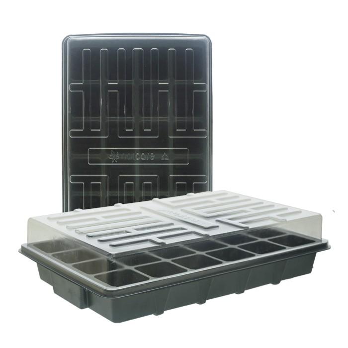 Foto Produk Tray Semai 180169 24 lubang Plus Alas & Tutup Hidroponik/Umum (09015) dari JIRIFarm Hidroponik
