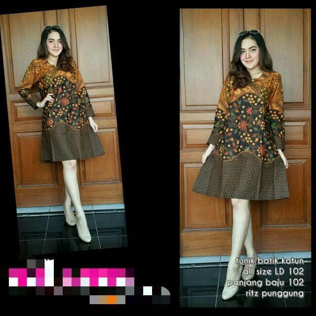 Jual Tunik Klasik Batik Colet Dress Batik Solo Baju Hijab Batik Modern Kota Surakarta De Solo Batik Tokopedia