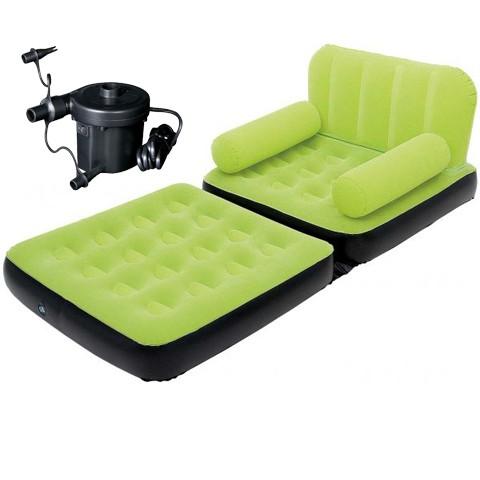 jual sofa bed 2 in 1 bestway 67356 hijau track far tokopedia rh tokopedia com