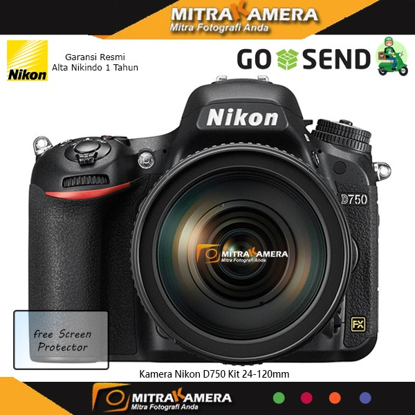 Kamera Nikon D750 Kit 24-120mm - Hitam