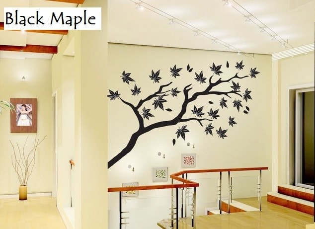 jual wallsticker monokrom wall sticker murah stiker pohon black