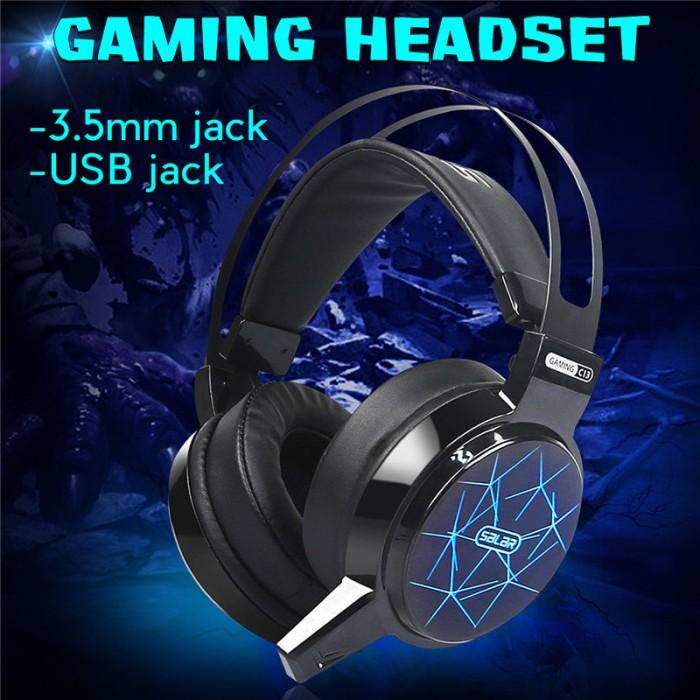 harga Gaming headset headphone salar c13 pro rgb led light Tokopedia.com