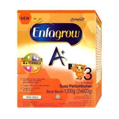 Susu enfagrow tahap 3 rasa vanila  karton 1200gram (hot promo)
