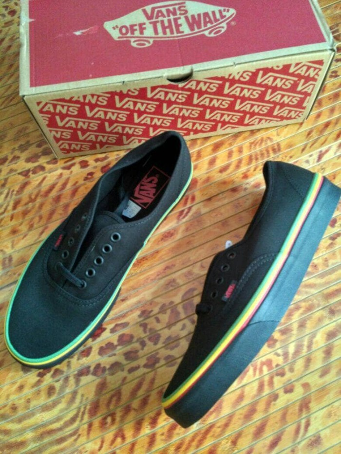 Jual Vans Authentic Rasta Black Original - DMN  f63eb175c