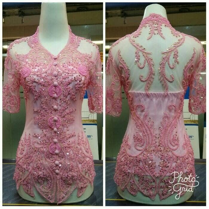 Harga Jual Kebaya Modern Payet Mutiara Inner Bustier Kaos Di