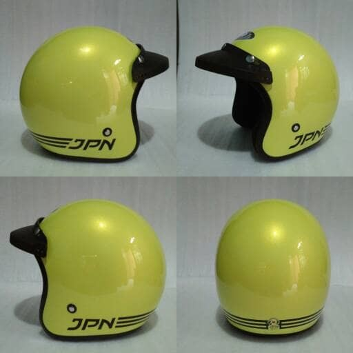 harga Helm retro jpn arc kuning lemon glossy + pet topi Tokopedia.com