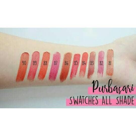 ... Purbasari Lipstick Color Matte 4GR No 81 90 100 ORIGINAL