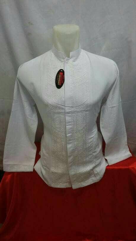 Baju koko sulaiman putih panjang