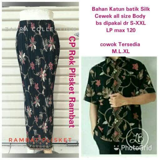 harga Couple batik rok maxi plisket dan kemeja sarimbit Tokopedia.com