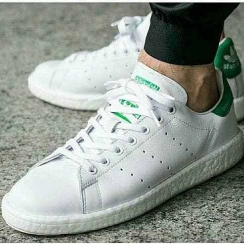 buy popular 01fc8 95f6c Jual Adidas Stan Smith Boost Black Green & White Green - DKI Jakarta -  Marqces Fashion | Tokopedia