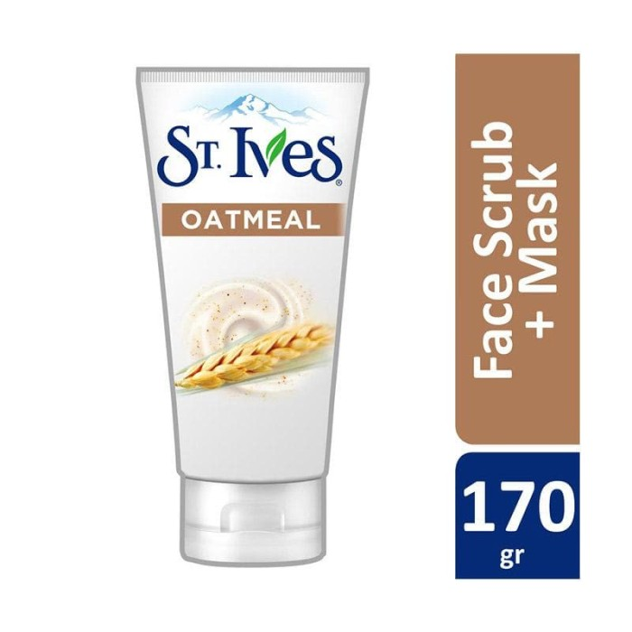 St. Ives Nourished & Smooth Oatmeal Face Scrub & Mask [170 g]