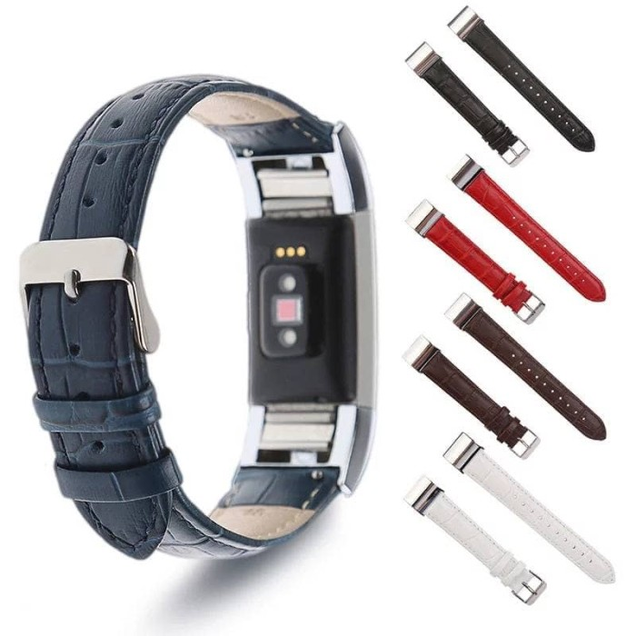 harga Leather strap band for fitbit charge 2 - crocodile leather pattern Tokopedia.com