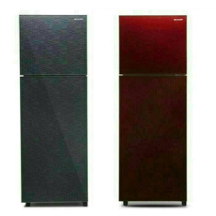 harga Kulkas sharp shine glass door 2pintu sj-246xg ms/mr Tokopedia.com