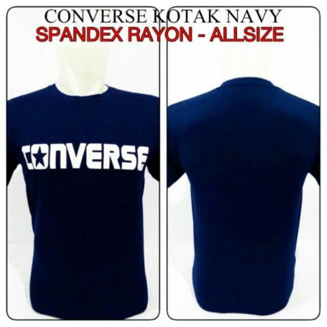 Jual Kaos Logo Converse Biru Dongker Nyaman Dipakai Desain Santai Kota Bandung Atthar Storee Tokopedia