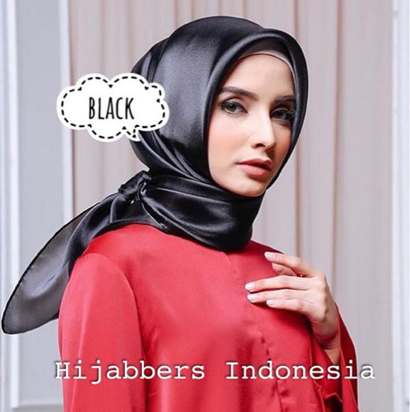 Hijab jilbab organza silk premium original