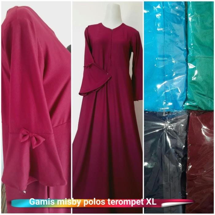Jual Grosir Gamis Gamis Misby Polos Terompet Grosir Baju Muslim Kab Kudus Fisya Fashion Shop Tokopedia
