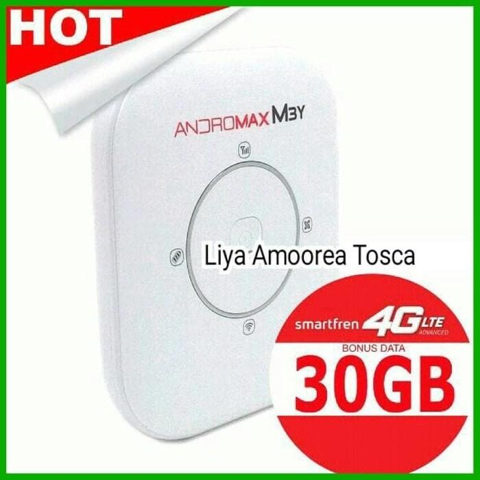 Modem WiFi MiFi Smartfren Andromax M3Y 4G LTE (KUOTA 30