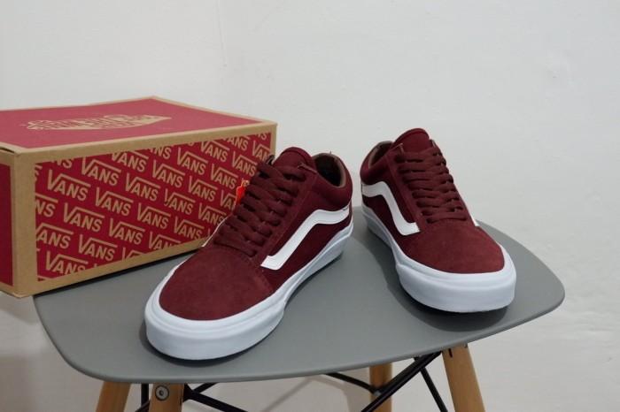 Jual Sepatu Vans Old Skool Mono Maroon Port Royale DT Premium ... f128e31feb