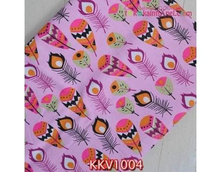 harga Kkv1004 kain kanvas motif bulu merak pink muda uk. 48x145 cm Tokopedia.com