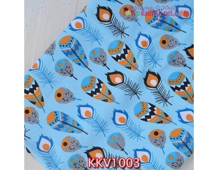 harga Kkv1003 kain kanvas motif bulu merak biru muda uk. 48x145 cm Tokopedia.com