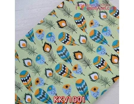 harga Kkv1001 kain kanvas motif bulu merak hijau uk  1mx145cm Tokopedia.com