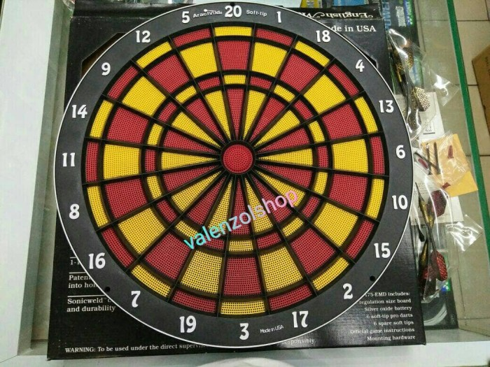 harga Papan dart game / dart board / dart game / smart darts usa Tokopedia.com